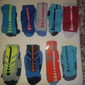 Lot of 9 Nike Basketball socks Men L size 8-12